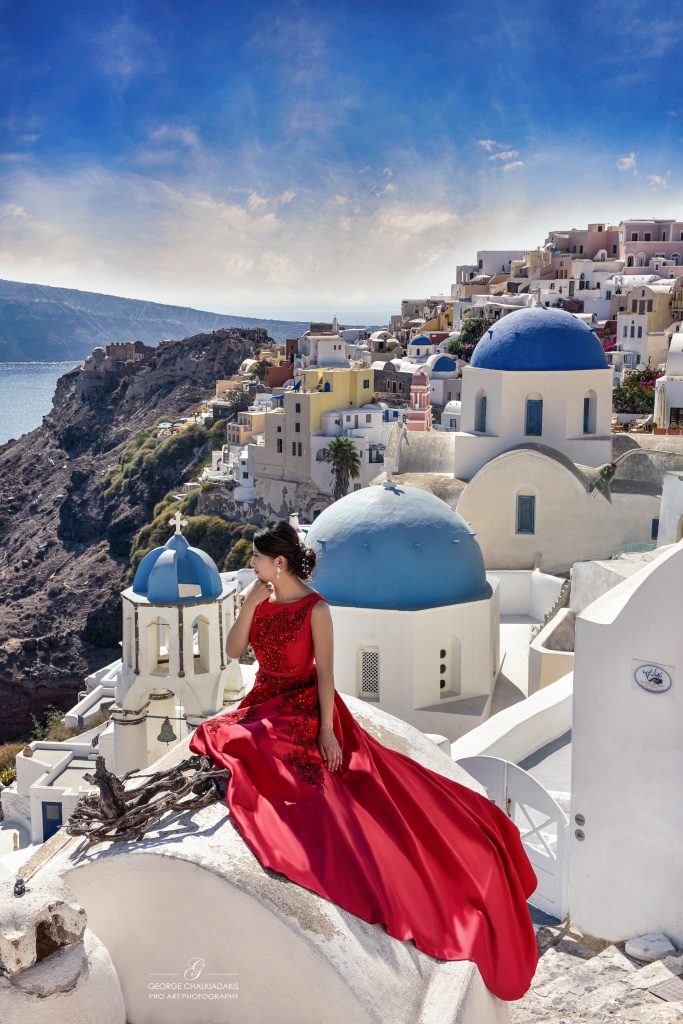 Santorini Pre Wedding Photo Shoots Olga Chalkiadaki Greece