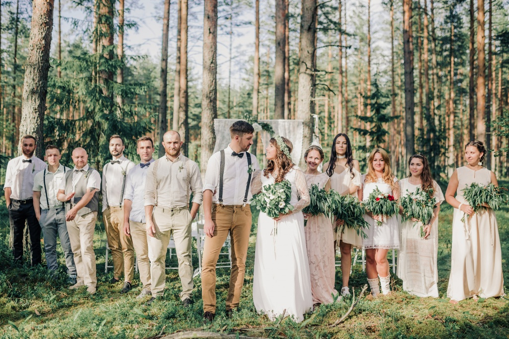 Wedding in forest, Finland, Andrew Suhinin photographer, #4967