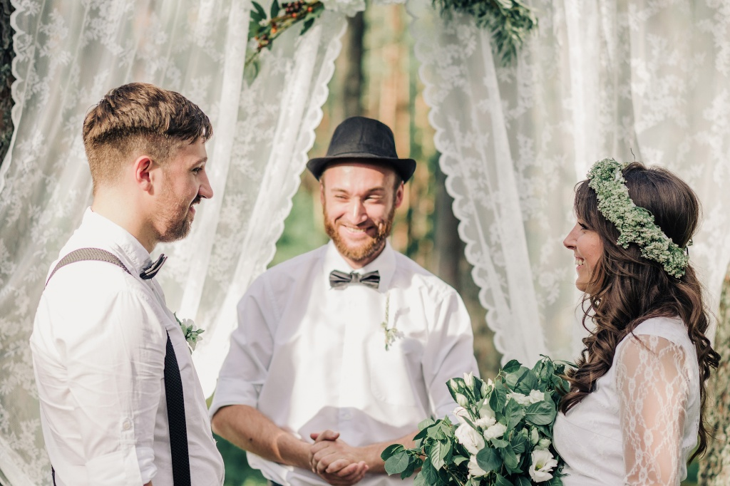 Wedding in forest, Finland, Andrew Suhinin photographer, #4964