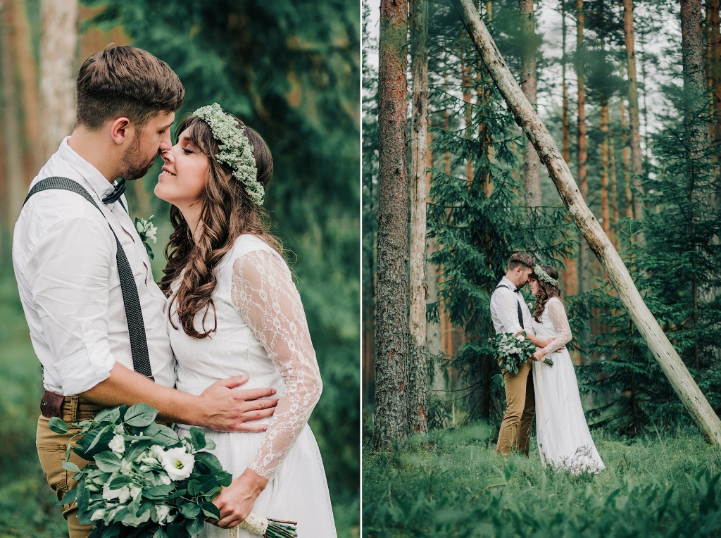 Wedding in forest, Finland, Andrew Suhinin photographer, #4945