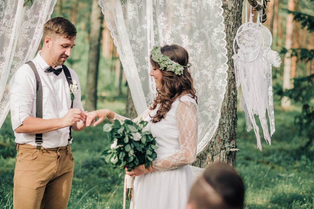 Wedding in forest, Finland, Andrew Suhinin photographer, #4956