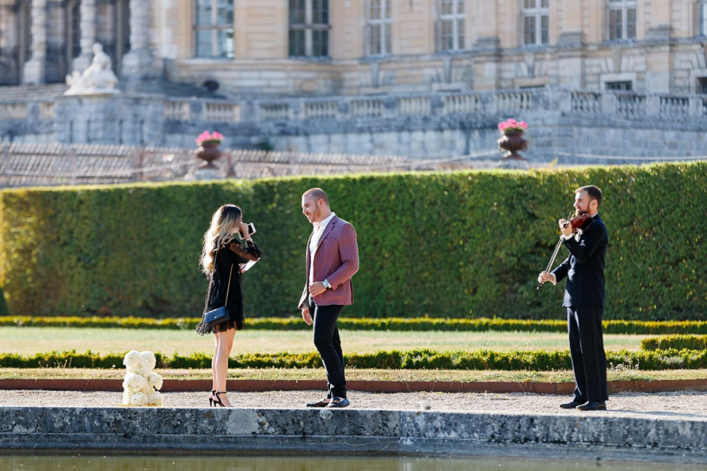 Chateau Vaux-le-Vicomte Luxury Proposal, France, Adagion Studio photographer, #17799