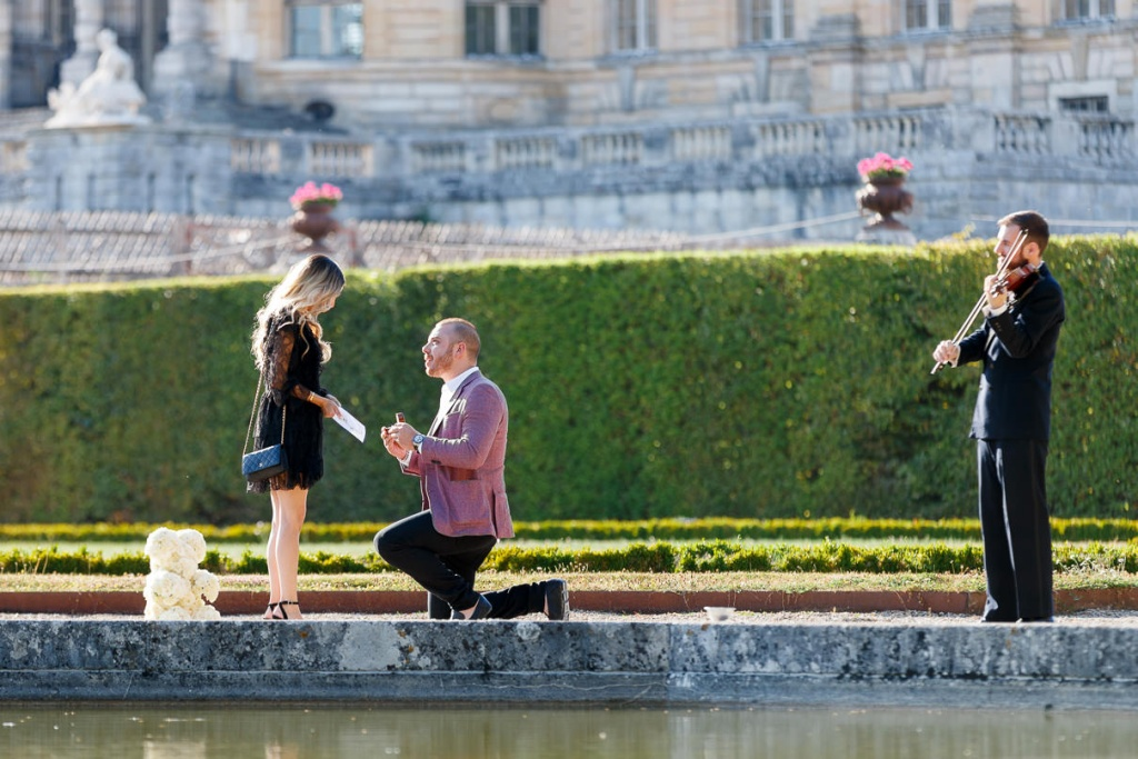 Chateau Vaux-le-Vicomte Luxury Proposal, France, Adagion Studio photographer, #17800