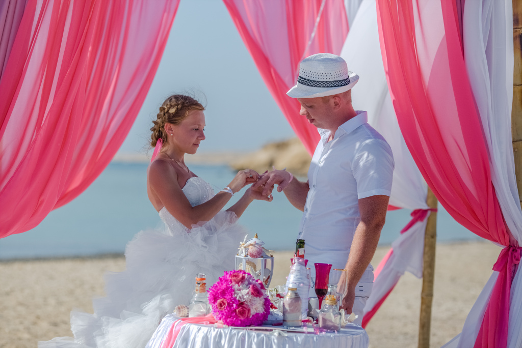 """Pearl Island"" Wedding ceremony on an island in Egypt, Red Sea, Hurghada., Egypt, Svetlana Aied photographer, #22984"