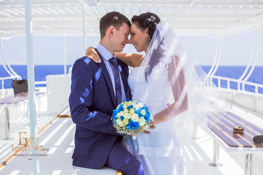 Wedding abroad in Egypt, on a yacht Red Sea, Hurghada, Giftun island., Hurghada, Svetlana Aied photographer, #20633