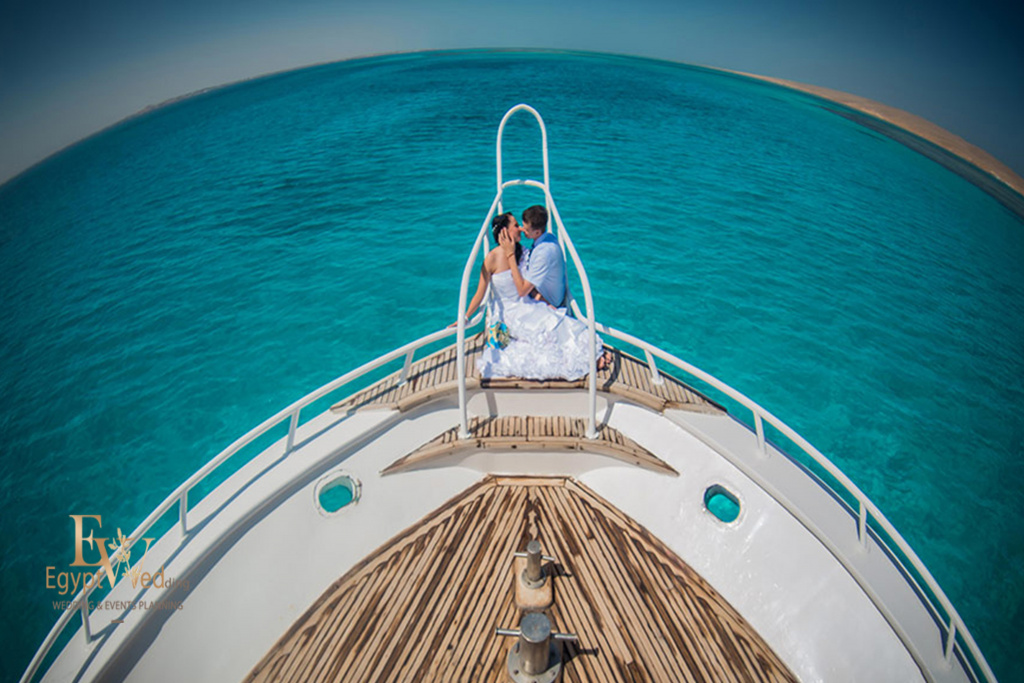 Wedding abroad in Egypt, on a yacht Red Sea, Hurghada, Giftun island., Hurghada, Svetlana Aied photographer, #20637