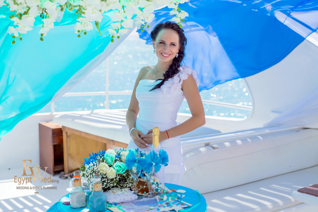 Wedding abroad in Egypt, on a yacht Red Sea, Hurghada, Giftun island., Hurghada, Svetlana Aied photographer, #20625