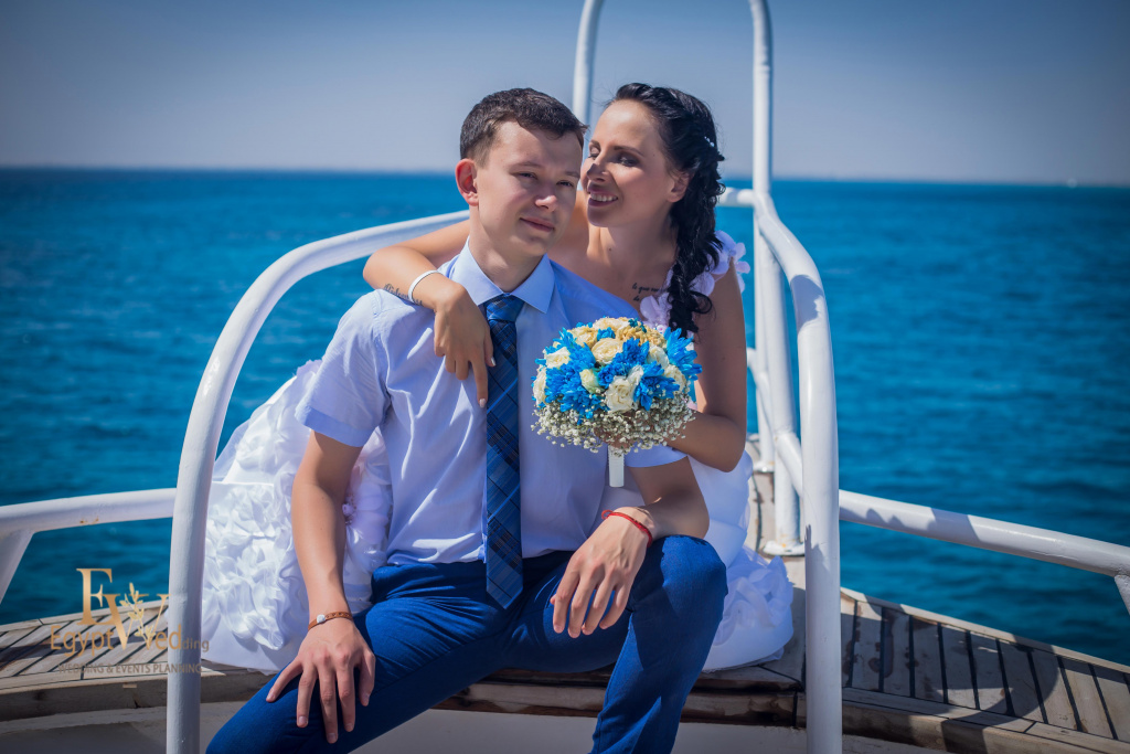 Wedding abroad in Egypt, on a yacht Red Sea, Hurghada, Giftun island., Hurghada, Svetlana Aied photographer, #20636