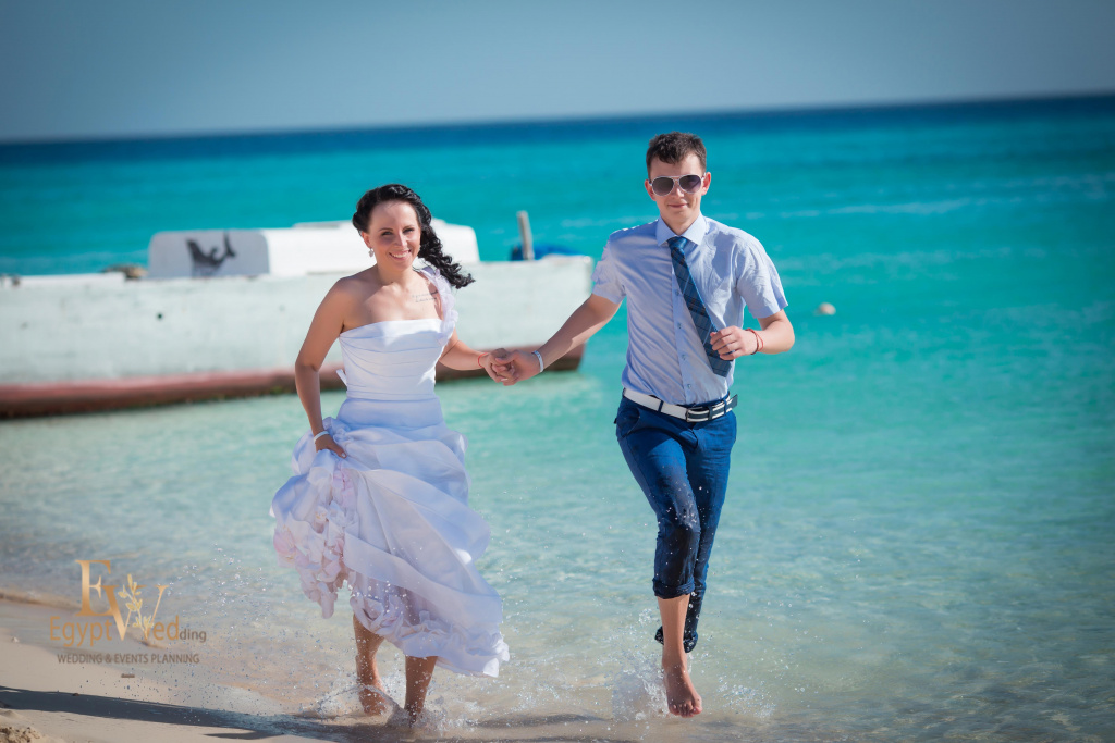 Wedding abroad in Egypt, on a yacht Red Sea, Hurghada, Giftun island., Hurghada, Svetlana Aied photographer, #20642