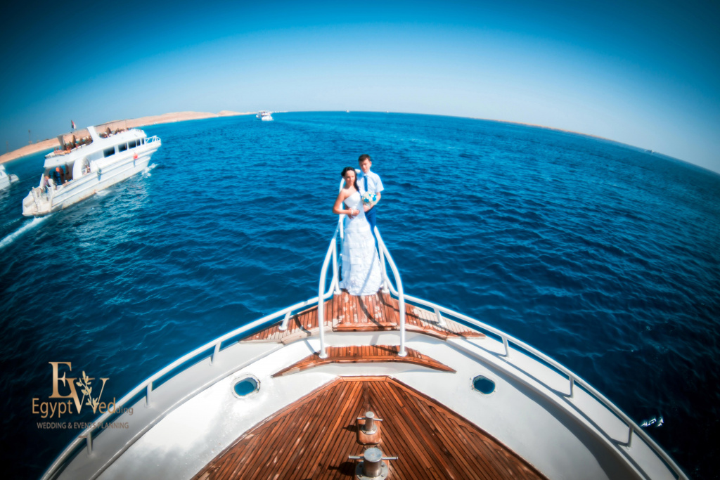 Wedding abroad in Egypt, on a yacht Red Sea, Hurghada, Giftun island., Hurghada, Svetlana Aied photographer, #20635