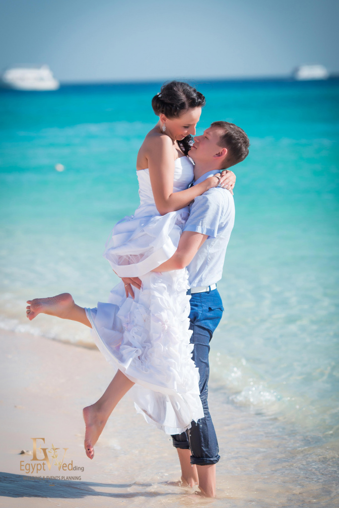 Wedding abroad in Egypt, on a yacht Red Sea, Hurghada, Giftun island., Hurghada, Svetlana Aied photographer, #20648