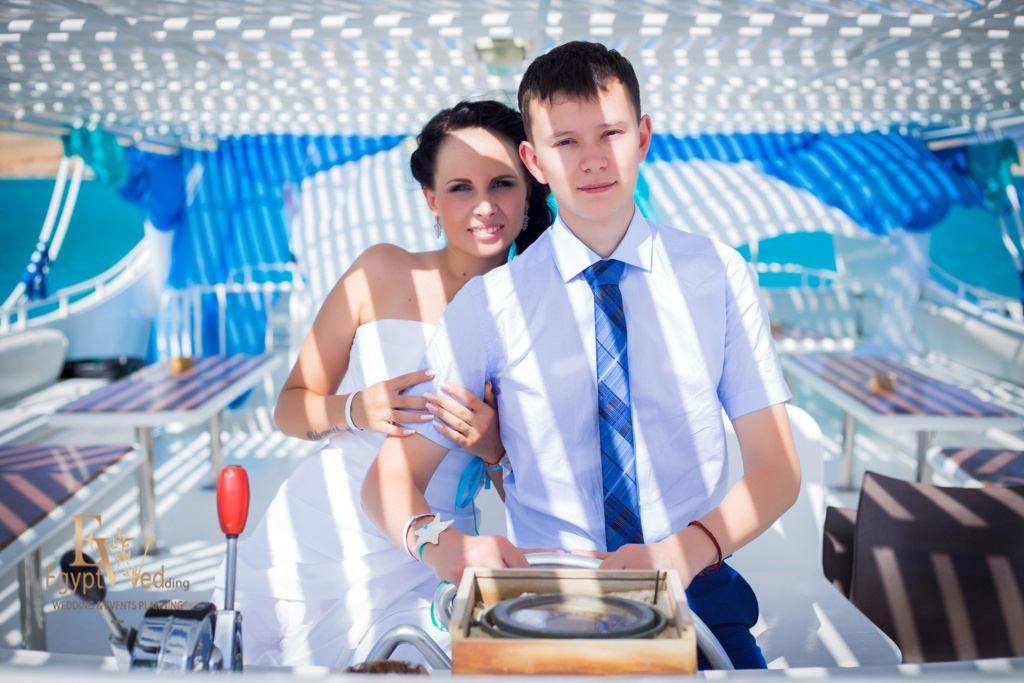 Wedding abroad in Egypt, on a yacht Red Sea, Hurghada, Giftun island., Hurghada, Svetlana Aied photographer, #20629