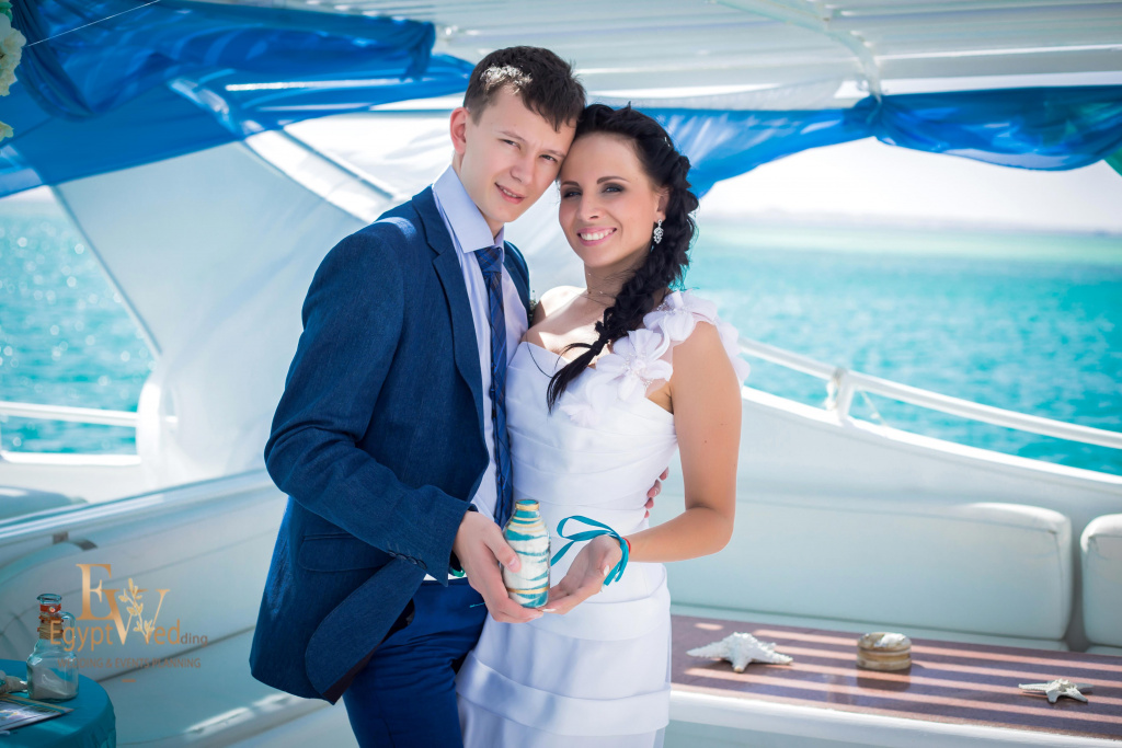 Wedding abroad in Egypt, on a yacht Red Sea, Hurghada, Giftun island., Hurghada, Svetlana Aied photographer, #20640