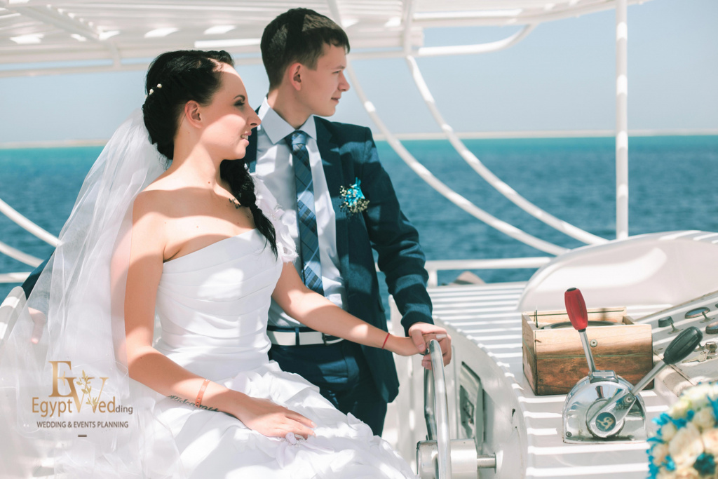 Wedding abroad in Egypt, on a yacht Red Sea, Hurghada, Giftun island., Hurghada, Svetlana Aied photographer, #20624