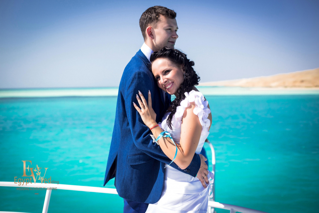 Wedding abroad in Egypt, on a yacht Red Sea, Hurghada, Giftun island., Hurghada, Svetlana Aied photographer, #20641