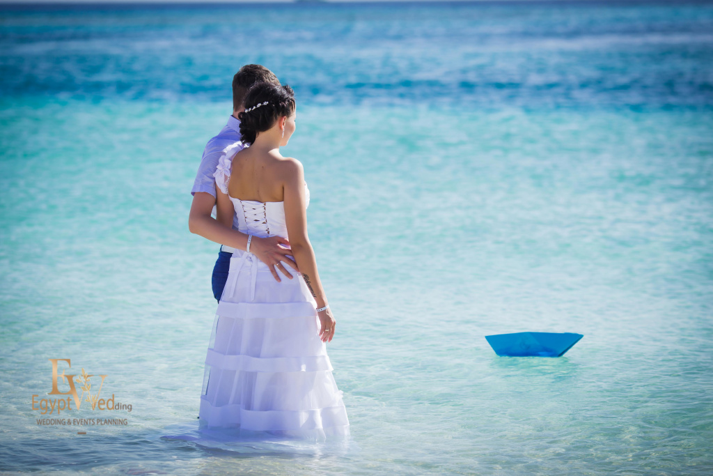 Wedding abroad in Egypt, on a yacht Red Sea, Hurghada, Giftun island., Hurghada, Svetlana Aied photographer, #20643