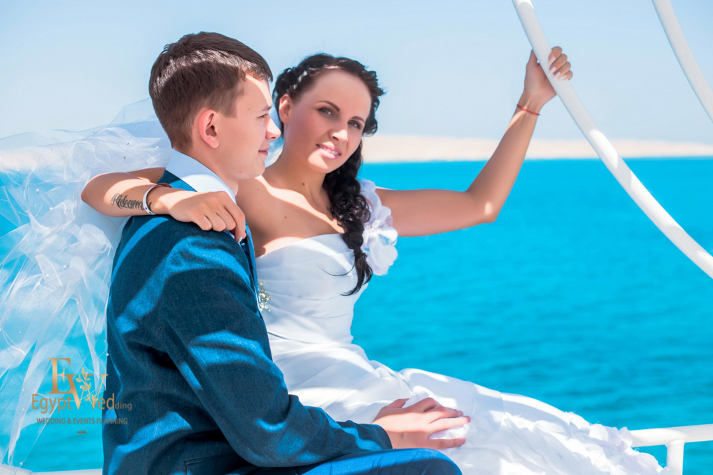 Wedding abroad in Egypt, on a yacht Red Sea, Hurghada, Giftun island., Hurghada, Svetlana Aied photographer, #20631
