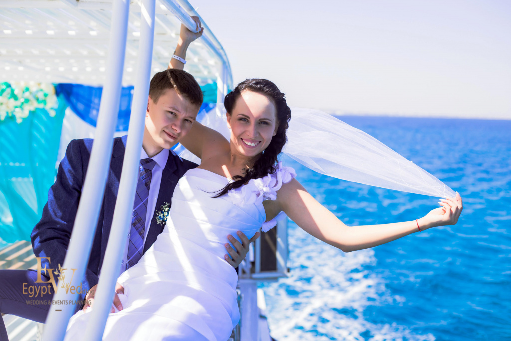 Wedding abroad in Egypt, on a yacht Red Sea, Hurghada, Giftun island., Hurghada, Svetlana Aied photographer, #20634
