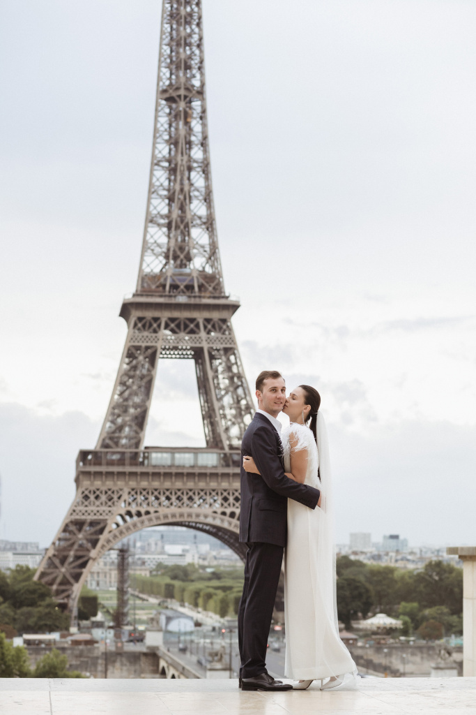 Trocadero elopement session, France, Anastasia Abramova-Guendel photographer, #23509