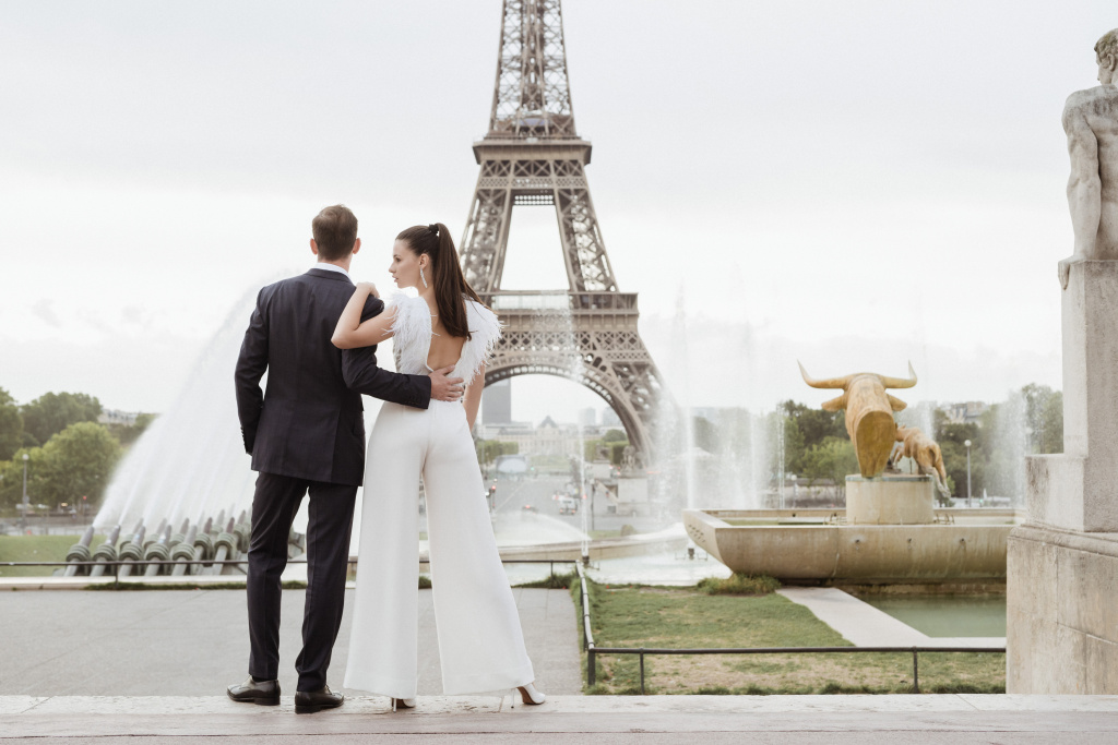 Trocadero elopement session, France, Anastasia Abramova-Guendel photographer, #23518