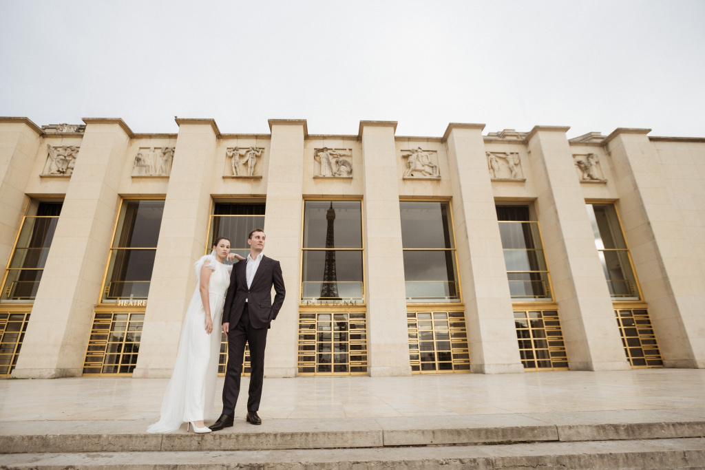 Trocadero elopement session, France, Anastasia Abramova-Guendel photographer, #23514