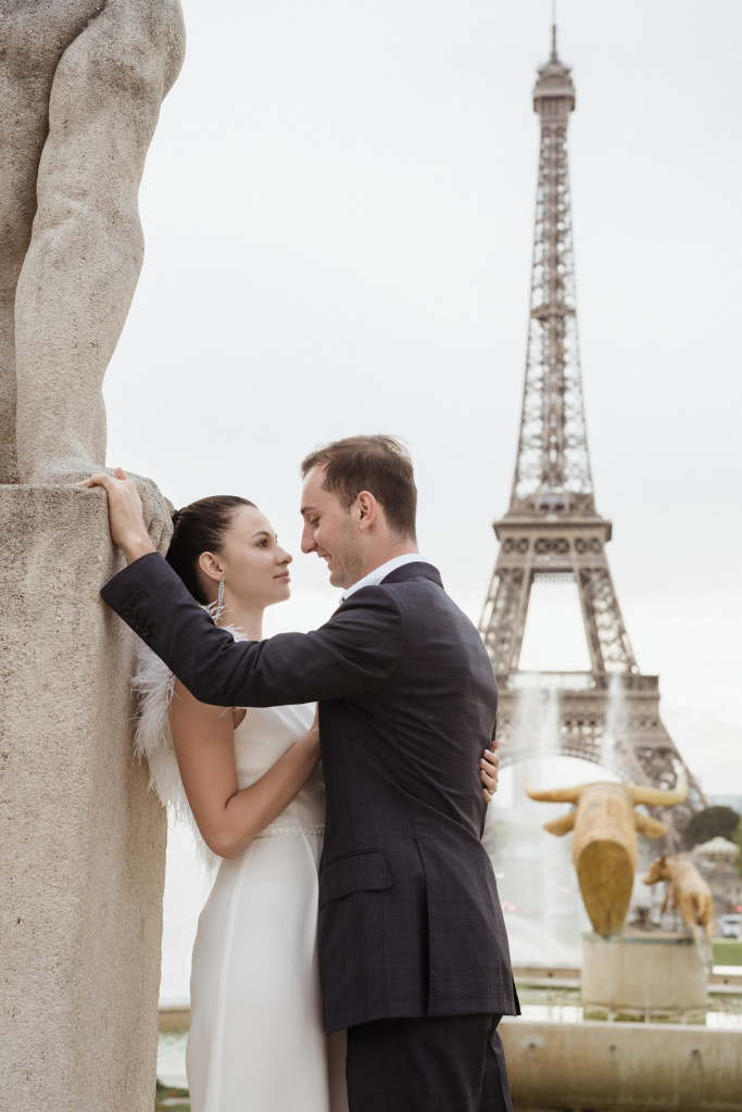 Trocadero elopement session, France, Anastasia Abramova-Guendel photographer, #23520
