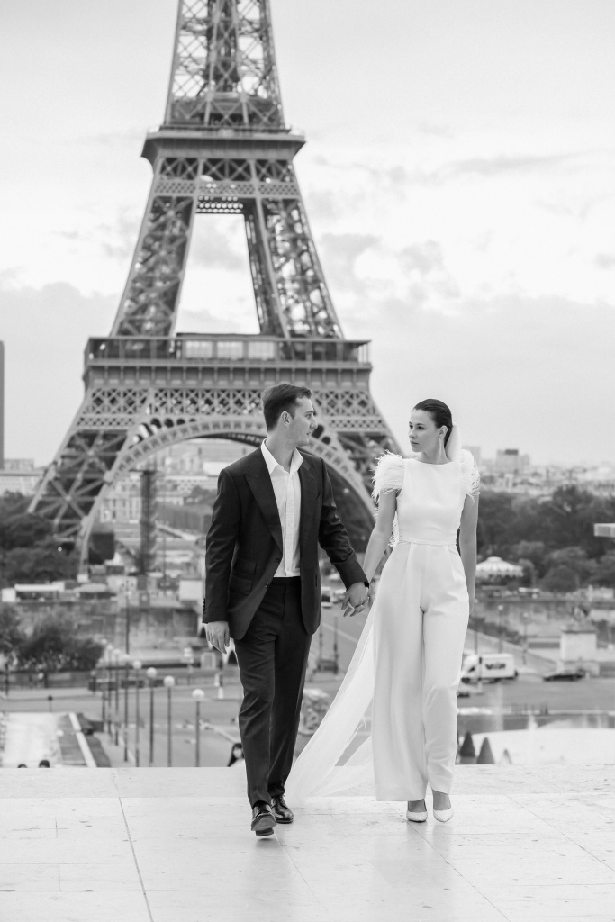 Trocadero elopement session, France, Anastasia Abramova-Guendel photographer, #23510
