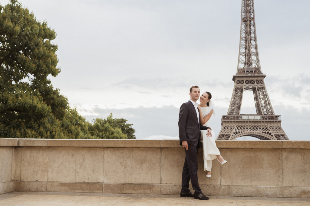 Trocadero elopement session, France, Anastasia Abramova-Guendel photographer, #23504