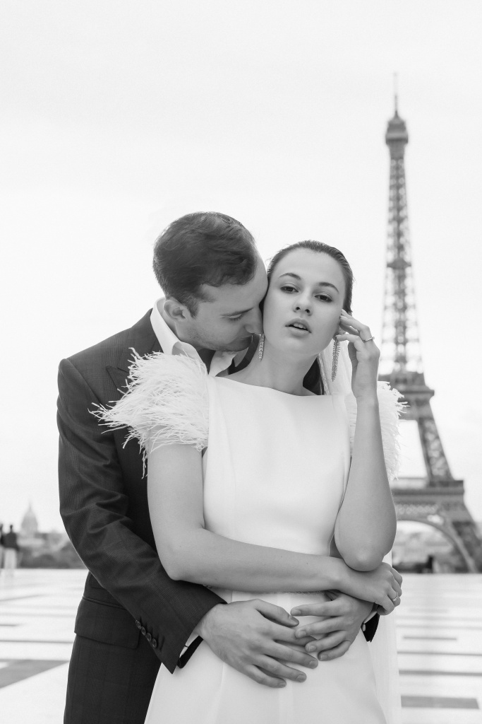 Trocadero elopement session, France, Anastasia Abramova-Guendel photographer, #23495