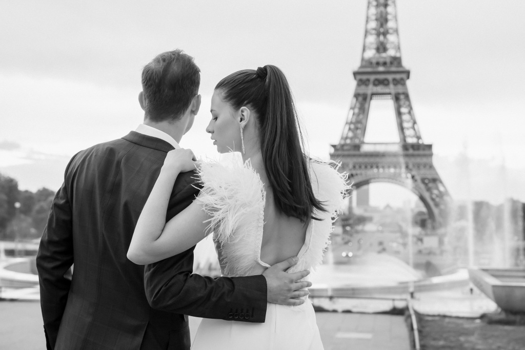 Trocadero elopement session, France, Anastasia Abramova-Guendel photographer, #23519