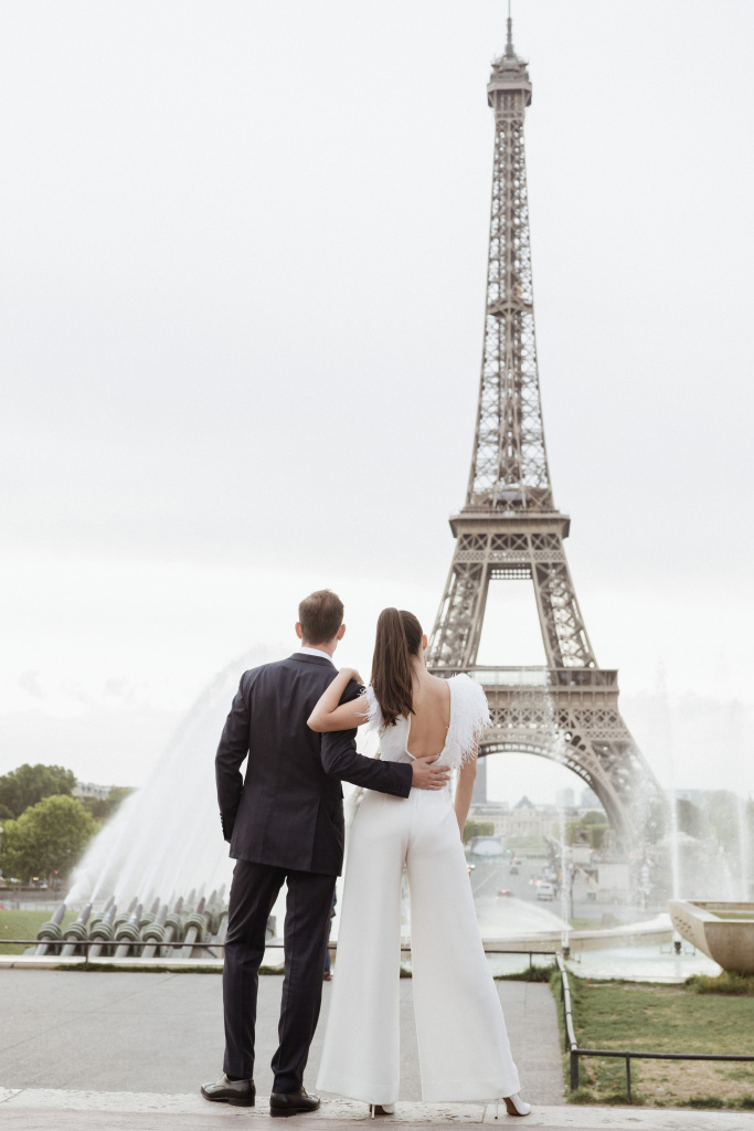 Trocadero elopement session, France, Anastasia Abramova-Guendel photographer, #23517
