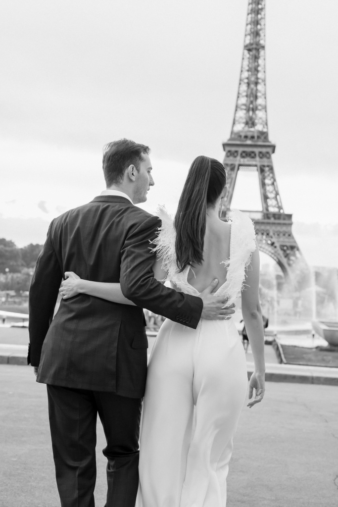 Trocadero elopement session, France, Anastasia Abramova-Guendel photographer, #23516