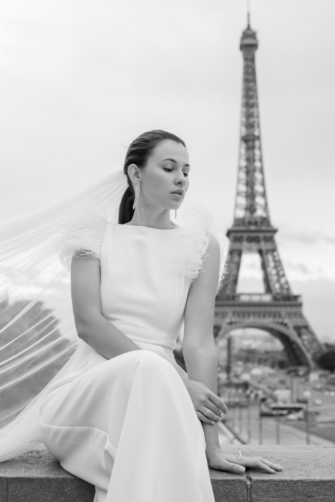 Trocadero elopement session, France, Anastasia Abramova-Guendel photographer, #23502