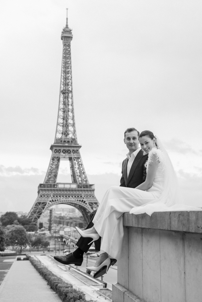 Trocadero elopement session, France, Anastasia Abramova-Guendel photographer, #23498