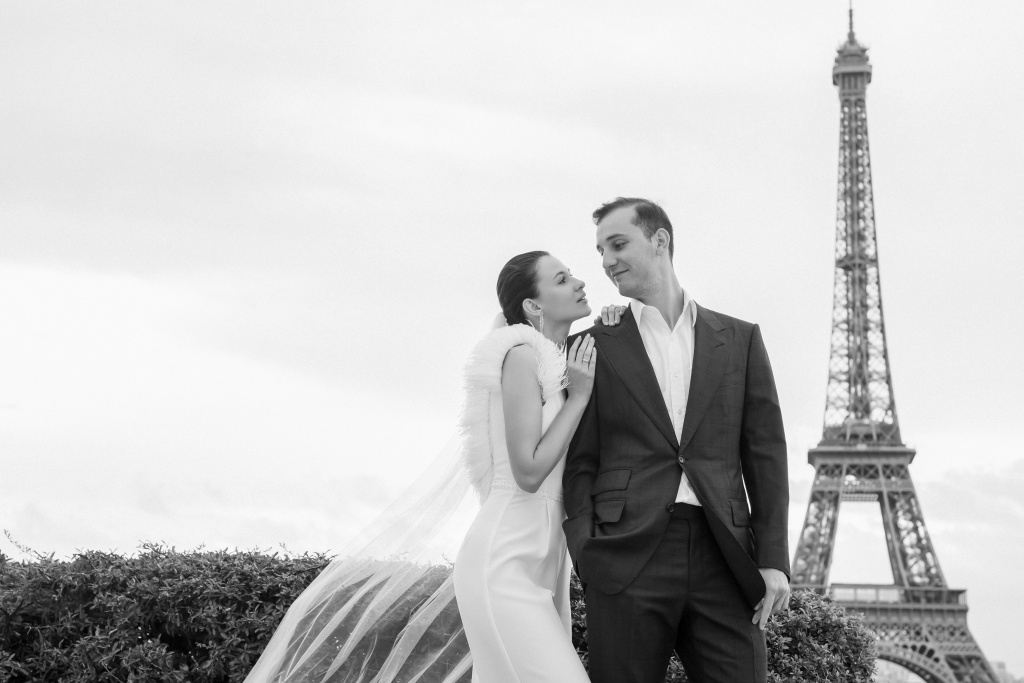 Trocadero elopement session, France, Anastasia Abramova-Guendel photographer, #23497