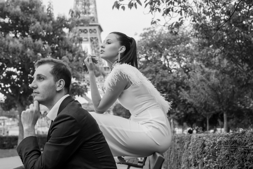 Trocadero elopement session, France, Anastasia Abramova-Guendel photographer, #23526