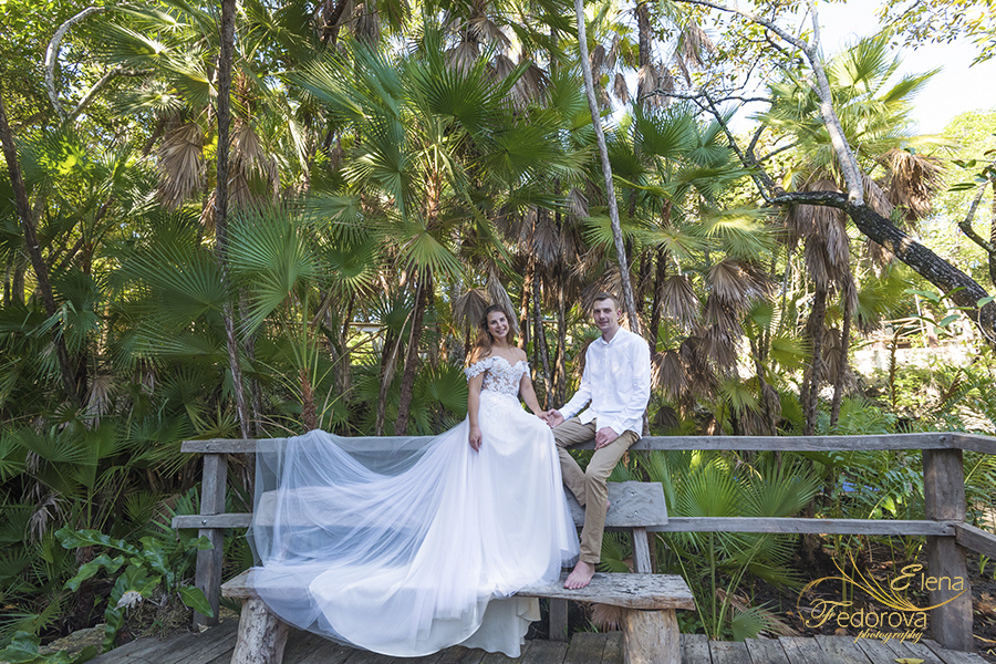 Honeymoon photoshoot in a cenote in Tulum Mexico, Cancun , Elena Fedorova photographer, #24191