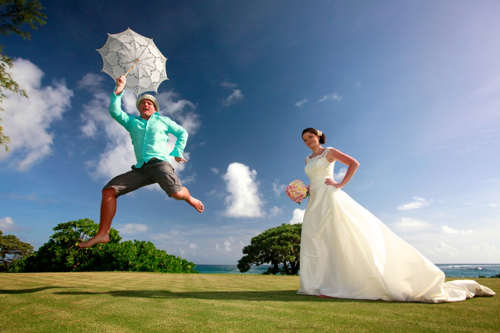jumping for love at the Shandrani