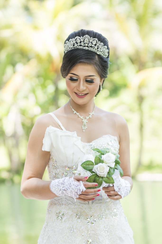 The Bride at Mumbul Park Sangeh