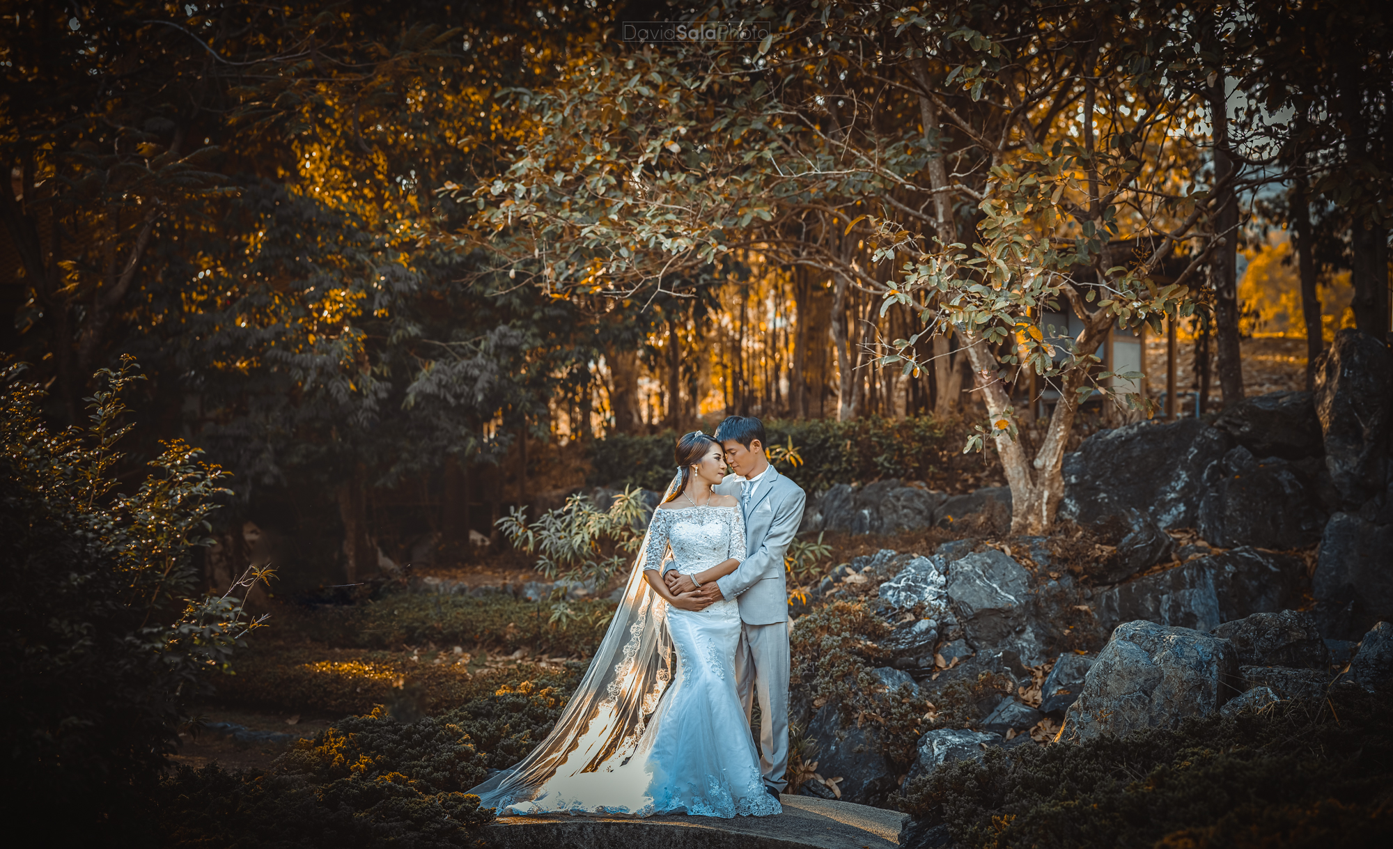 Pre Wedding Photo Shoot at Ratjapruek Gardens in Chiang Mai, Thailand.