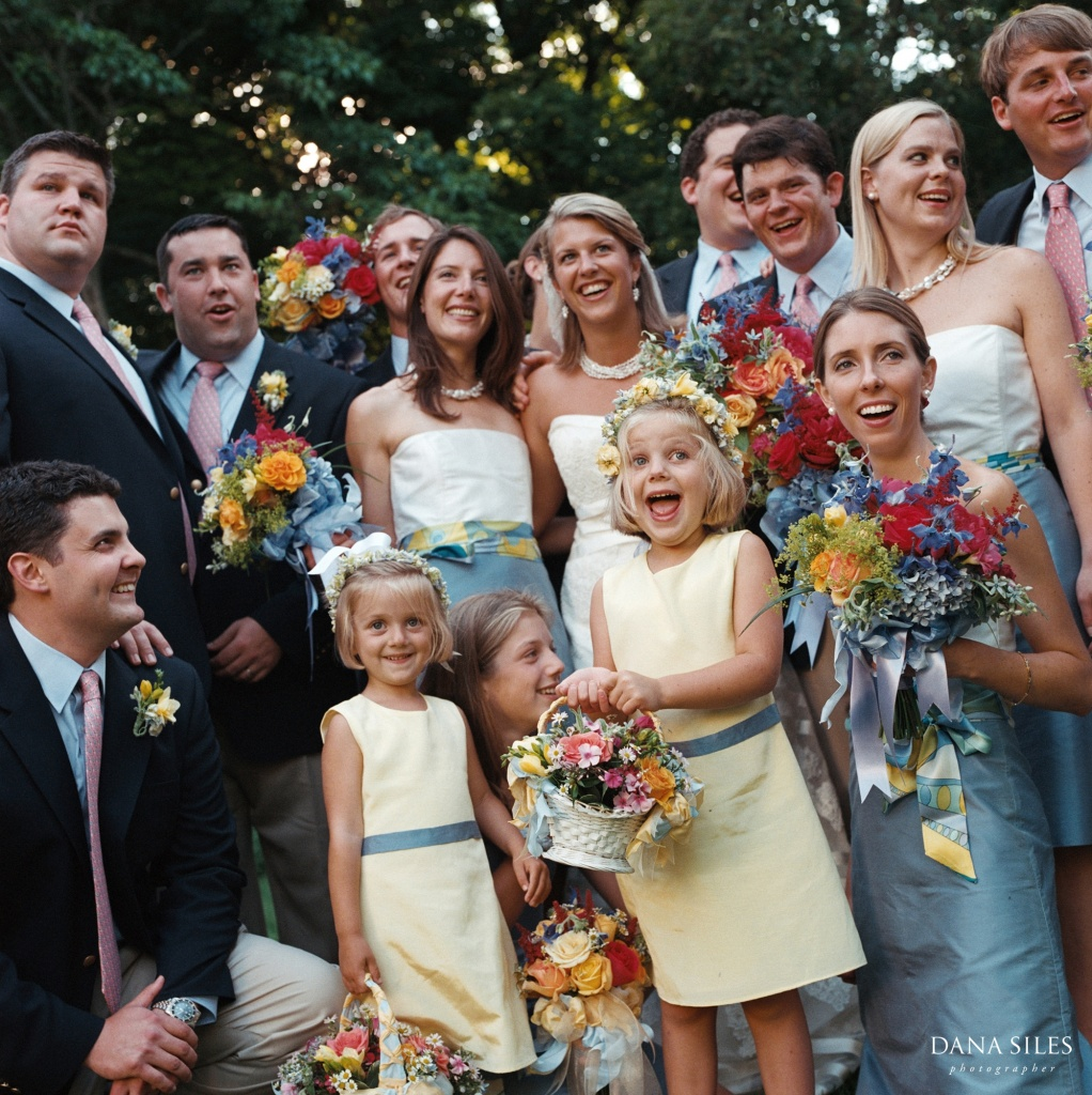 Angela & Ben with their Wedding Party, North Salem, New York, USA