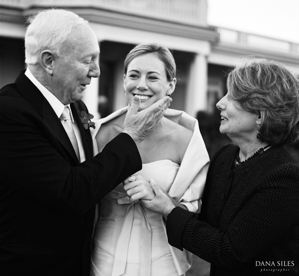 Anne and her parents, Newport, Rhode Island, USA