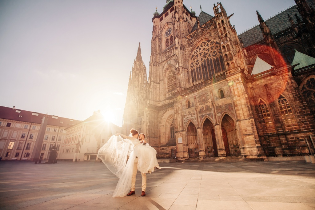 Wedding Photo Prague Castle Czech Republic