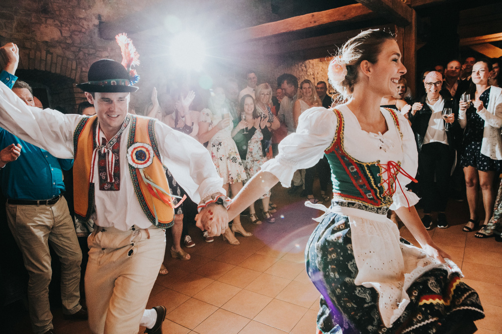 First traditional Polka dance