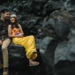 pre wedding video in batur vulcano, bali