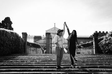 Romantic engagement in Florence, Italy, Laura Barbera photographer, #7870