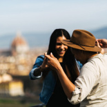 Romantic engagement in Florence