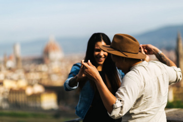 Romantic engagement in Florence, Italy, Laura Barbera photographer, #7846