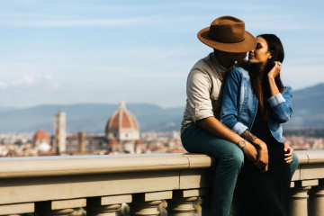Engagement photo shoot in Florence