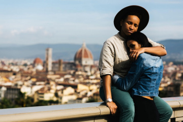 Romantic engagement in Florence, Italy, Laura Barbera photographer, #7861
